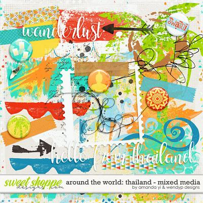Around the world: Thailand - Mixed Media by Amanda Yi & WendyP Designs