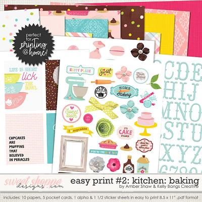 In My Kitchen: Baking Easy Print #2 by Amber Shaw and Kelly Bangs Creative