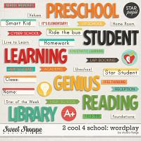 2 cool 4 school: WORDPLAY by Studio Flergs