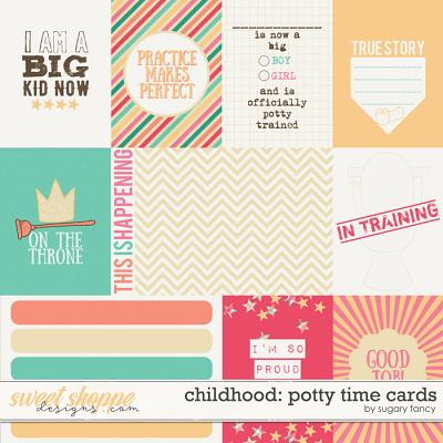 Childhood: Potty Time Cards by Sugary Fancy