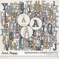 Alphamania {Chipboard 01} by Digilicious Design