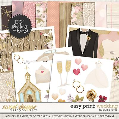 Easy Print: Scrap Your Stories: WEDDING by Studio Flergs