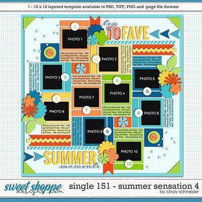 Cindy's Layered Templates - Single 151: Summer Sensations 4 by Cindy Schneider
