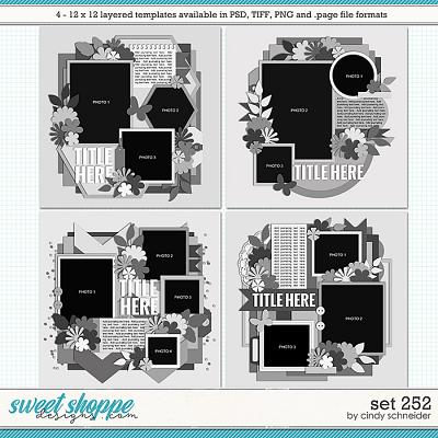Cindy's Layered Templates - Set 252 by Cindy Schneider