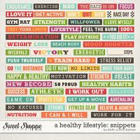 A Healthy Lifestyle: Snippets by Kristin Cronin-Barrow