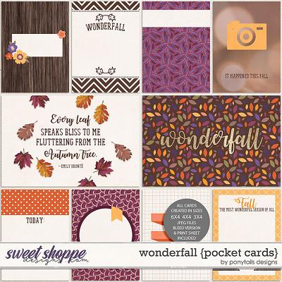 Wonderfall Pocket Cards by Ponytails