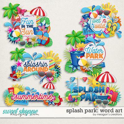 Splash Park: Word Art by Meagan's Creations