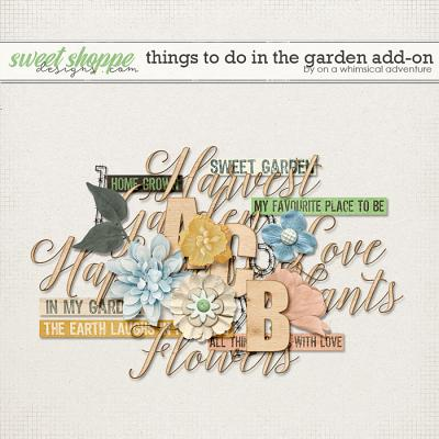 Things To Do In The Garden Add-on by On A Whimsical Adventure