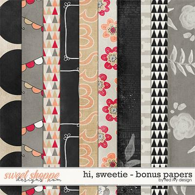 Hi, Sweetie! - Bonus Papers by Red Ivy Design