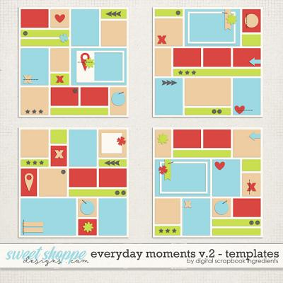Everyday Moments Templates Vol.2 by Digital Scrapbook Ingredients