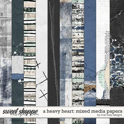 A Heavy Heart: Mixed Media Papers by River Rose Designs
