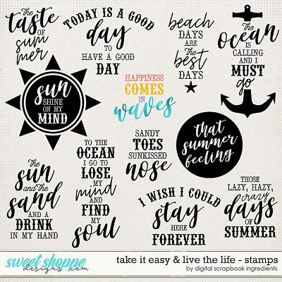 Take It Easy & Live The Life | Stamps by Digital Scrapbook Ingredients