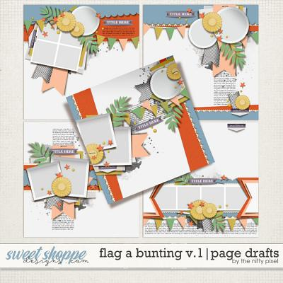 FLAG A BUNTING V.1 | PAGE DRAFTS by The Nifty Pixel