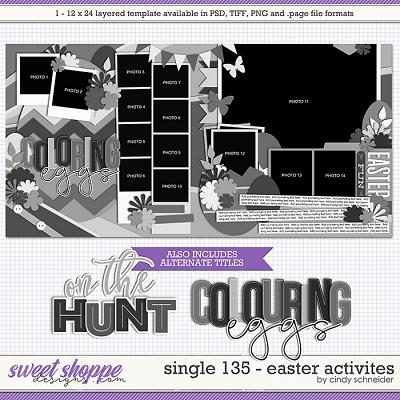Cindy's Layered Templates - Single 135: Easter Activities by Cindy Schneider