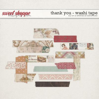 Thank You Washi Tape by On A Whimsical Adventure