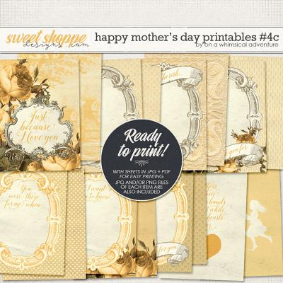 Happy Mother's Day Printable Journal Cards Yellow by On A Whimsical Adventure