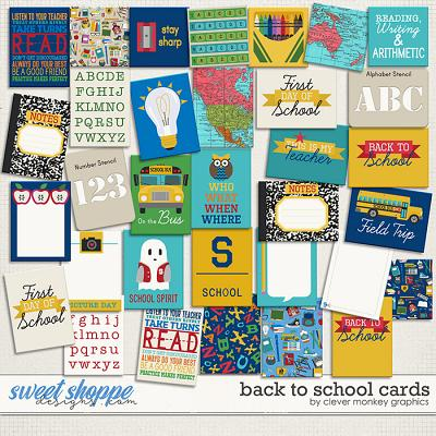 Back to School Cards by Clever Monkey Graphics