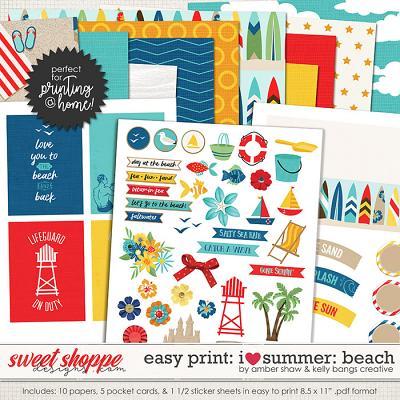 I Heart Summer: Beach EZ Print Pack by Amber Shaw & Kelly Bangs