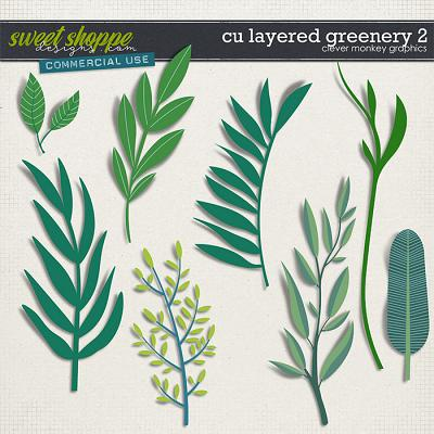 CU Layered Greenery 2 by Clever Monkey Graphics