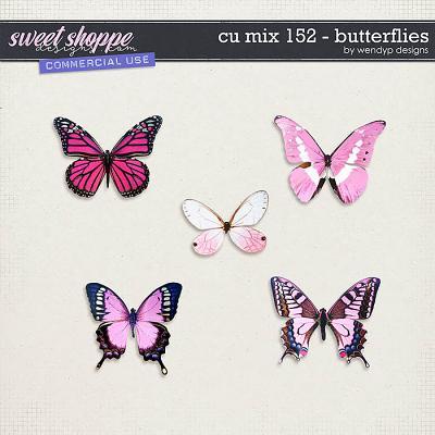 CU Mix 152 - Pink butterflies by WendyP Designs