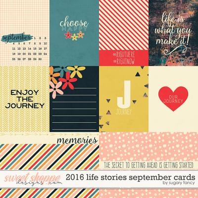 2016 Life Stories - September Cards by Sugary Fancy