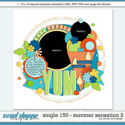 Cindy's Layered Templates - Single 150: Summer Sensations 3 by Cindy Schneider
