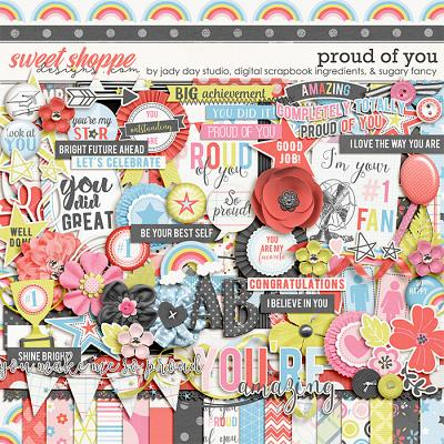 Proud Of You by Jady Day Studio, Digital Scrapbook Ingredients, and Sugary Fancy