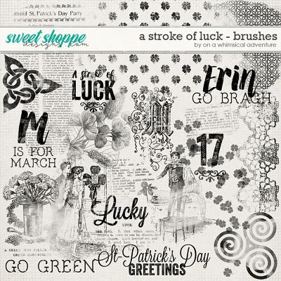 A Stroke Of Luck Brushes by On A Whimsical  Adventure