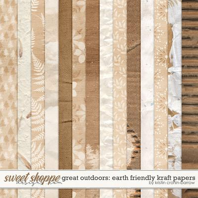 Great Outdoors: Earth Friendly Kraft Papers by Kristin Cronin-Barrow