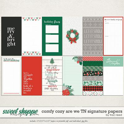 Comfy Cozy Are We Traveler's Notebook Signatures by Traci Reed
