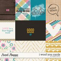 I Woof You Cards by Sugary Fancy