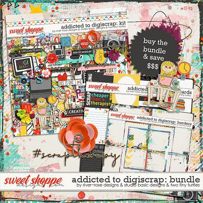 Addicted To Digiscrap Bundle by River~Rose, Studio Basic and Two Tiny Turtles