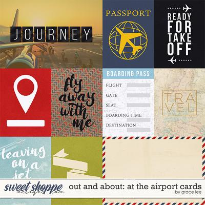 Out and About: At The Airport Cards by Grace Lee