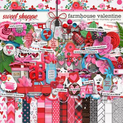 Farmhouse Valentine by Clever Monkey Graphics