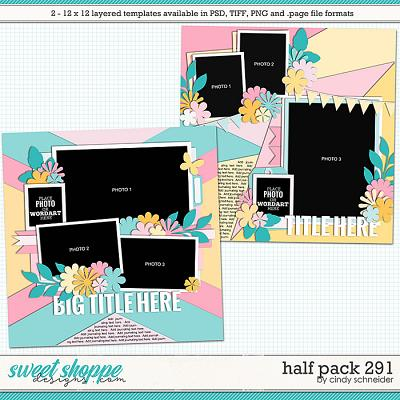Cindy's Layered Templates - Half Pack 291 by Cindy Schneider