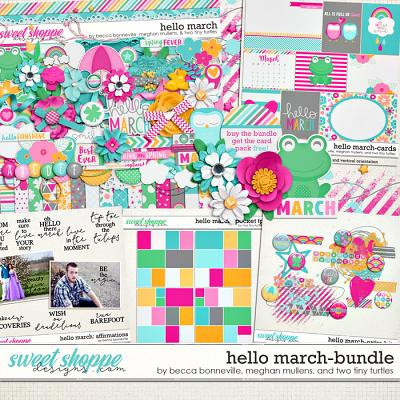 Hello March Bundle by Becca Bonneville, Meghan Mullens & Two Tiny Turtles
