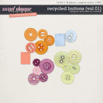 Recycled Buttons {Vol 01} by Christine Mortimer