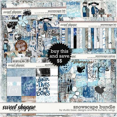 Snowscape Bundle & *FWP* by Studio Basic and Little Butterfly Wings