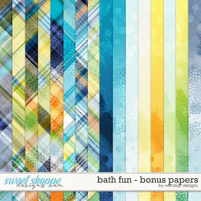 Bath fun - bonus papers by WendyP Designs