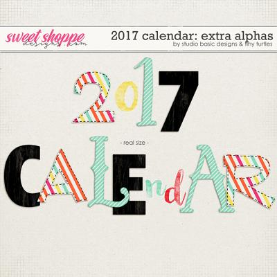2017 Calendar: Extra Alphas by Studio Basic and Two Tiny Turtles