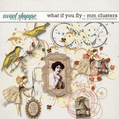 What If You Fly Mixed Media Clusters by On A Whimsical Adventure