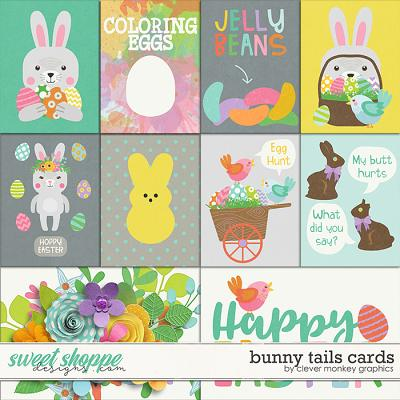 Bunny Tails Cards by Clever Monkey Graphics