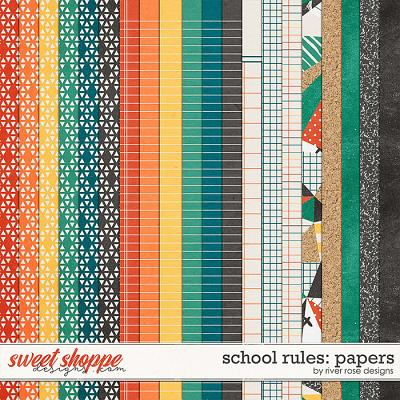 School Rules: Papers by River Rose Designs