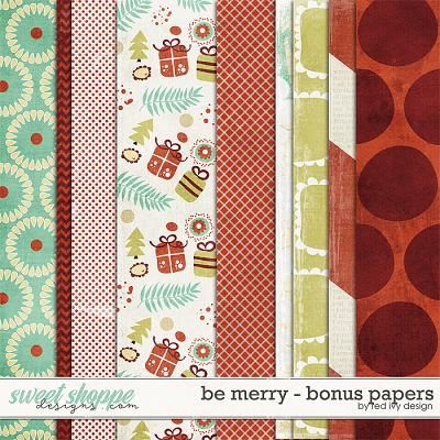 Be Merry - Bonus Papers by Red Ivy Design