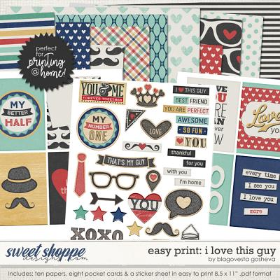 Easy Print: I Love This Guy by Blagovesta Gosheva