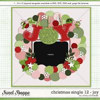 Cindy's Templates - Christmas Single 12: Joy by Cindy Schneider