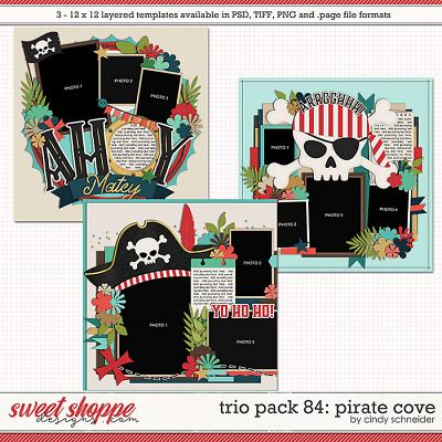 Cindy's Layered Templates - Trio Pack 84: Pirate Cove by Cindy Schneider