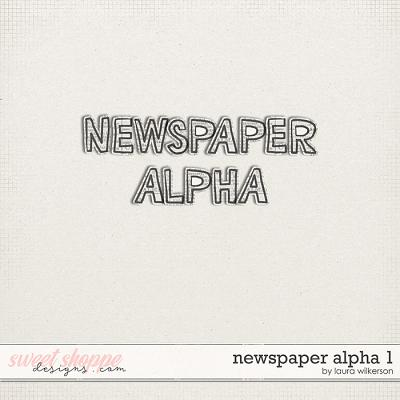 Newspaper Alpha 1 by Laura Wilkerson