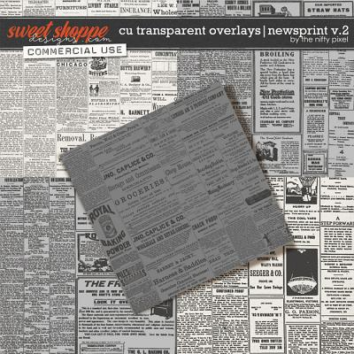 CU TRANSPARENT OVERLAYS | NEWSPRINT V.2 by The Nifty Pixel