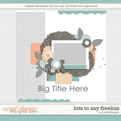 Lots to Say Freebie by Crystal Livesay